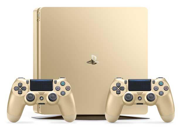 Playstation 4 Slim (500 GB) + 2 Dualshock 4 V2 Gold