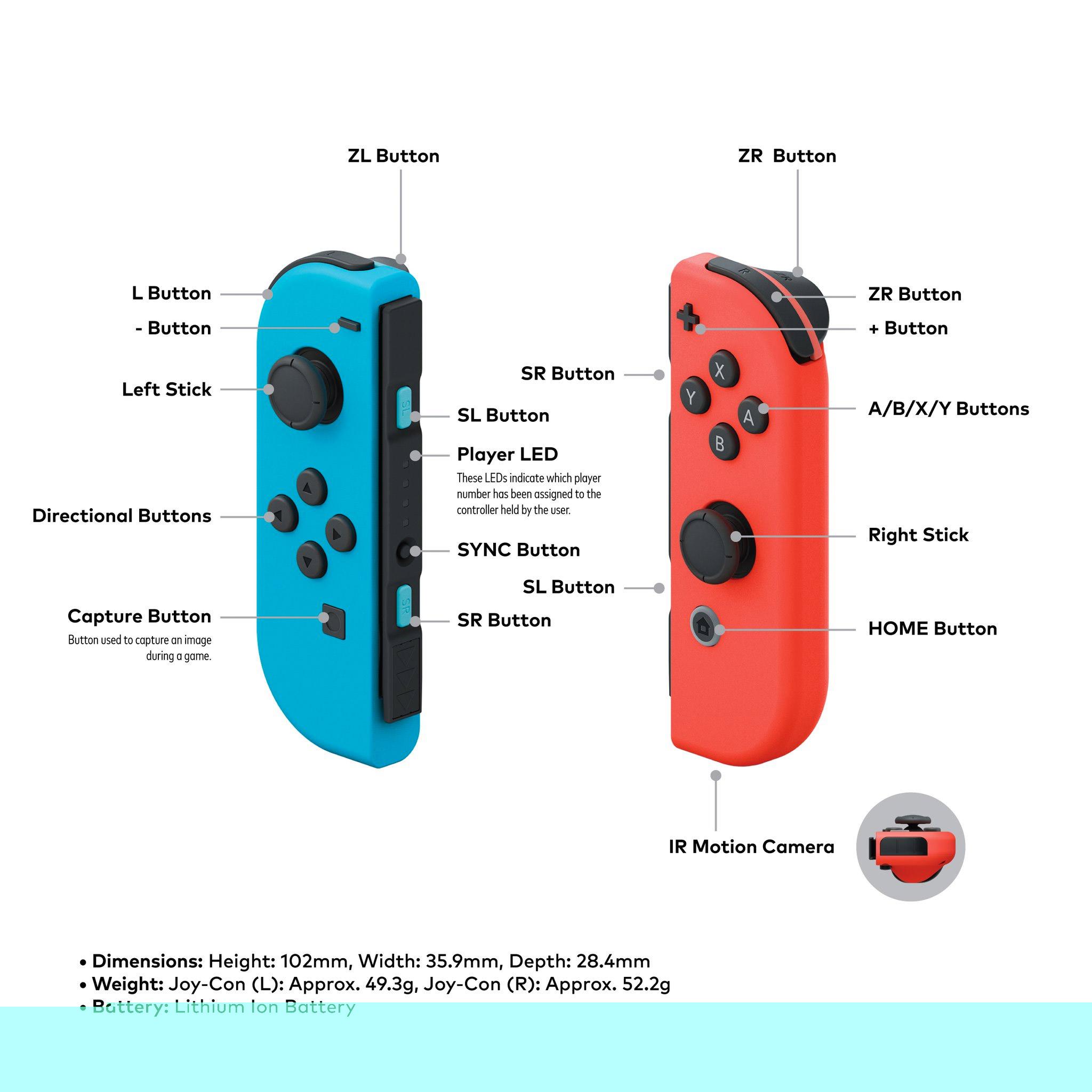 Joy-Con Pair- Neon Red/Neon Blue