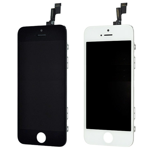 26e4f294528e3d Full Screen Replacement for iPhone 5S SE Black